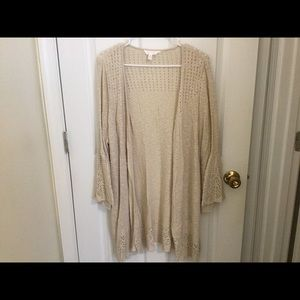 Ivory Lace Bell Sleeve Cardigan